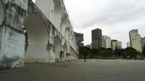 RIO DE JANEIRO, BRAZIL - JUNE 23: Pan of skateboard practice on June 23, 2013 in Footage