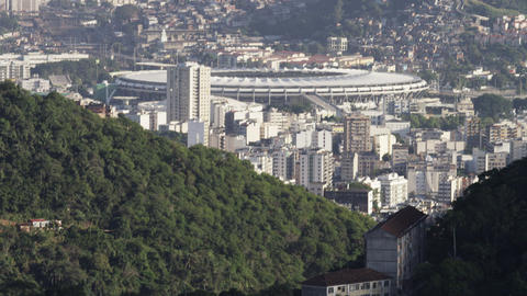 Rio de Janeiro surrounding the Maracanã stadium Footage