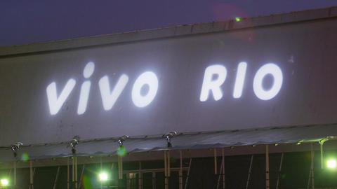 Shot of vivo rio sign on a building in Rio de Janeiro, Brazil Live Action