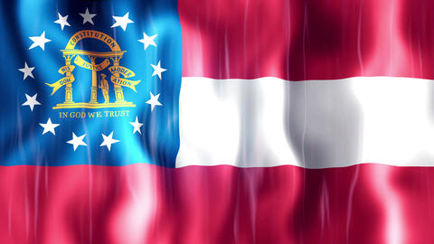 Georgia State Flag Animation Animation