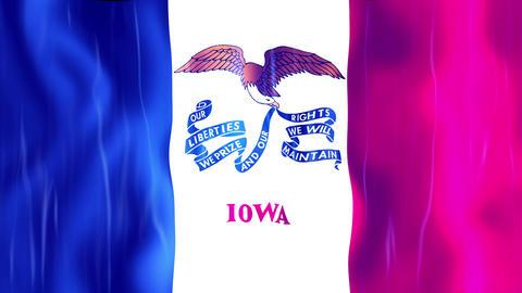 Iowa State Flag Animation Animation