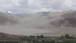 Sand storm in desert at Stakna,Stakna,India Footage