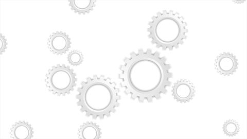 Grey paper tech gears mechanism video animation Animation