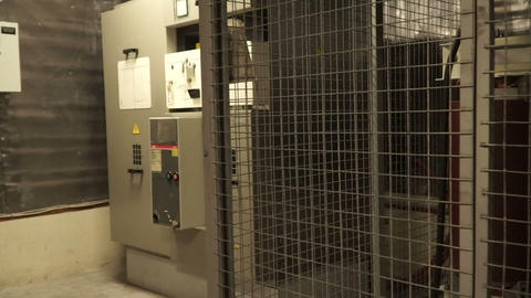 interior high voltage transformer in a power (electrical) power substation Live Action
