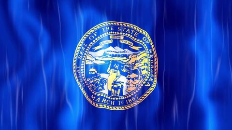 Nebraska State Flag Animation Animation