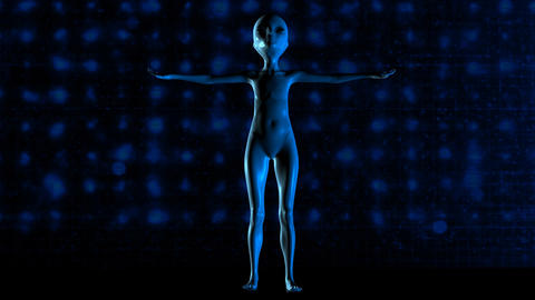 3D Animation of an Alien Animation