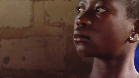 African girl in a classroom Footage