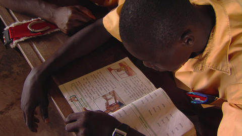 African student studying Footage