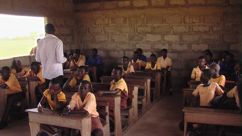 Students and teacher in a classroom in Africa Footage