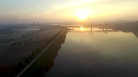 Sunrise of Namji, Changnyeong,Gyeongnam, South Korea, Asia Footage