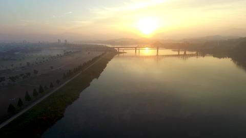 Sunrise of Namji, Changnyeong,Gyeongnam, South Korea, Asia Stock Video Footage