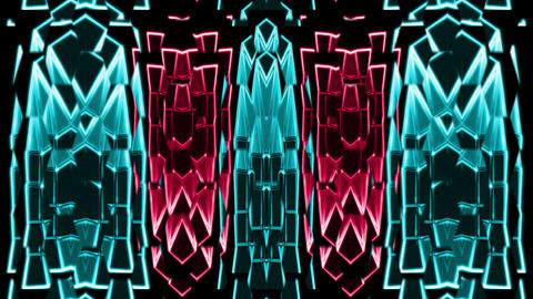 Art Wall Towers VJ Loop Strobing motion background Live Action