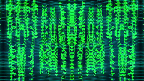 Green See VJ Loop Art Abstraction Wall pattern Video Live Action