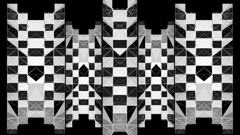 Wall Black White Blinking Pattern Motion Background Footage