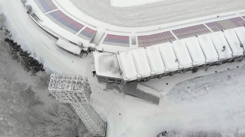 outdoor stadium aerial photography Stock Video Footage