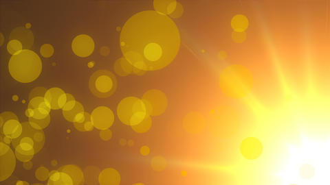 Refraction of light of warm sun - rays, sky and flying particles, modern Footage