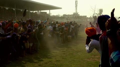Anandpur Sahib, India - 20180302 - Hola Mohalla - Sikh Festival - Man Stan Footage