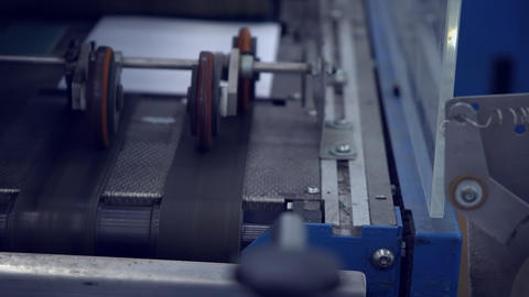 movement of finished products in printing house Live Action