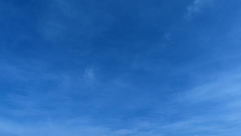 Slow Blue Skyscape With Some Clouds Footage