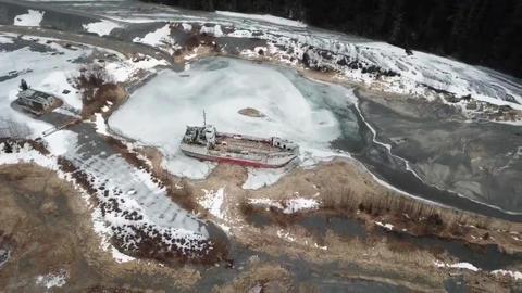 Old shipwreck in Alaska Live Action