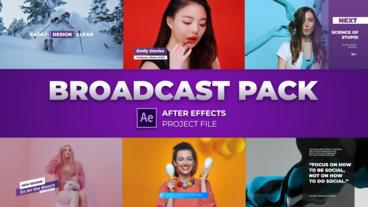 Modern Broadcast Pack After Effectsテンプレート