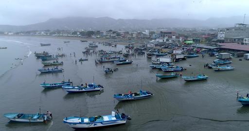 Puerto Lopez, Ecuador - 20180913 - Drone Aerial - Drone Backs Up Reveali Live Action