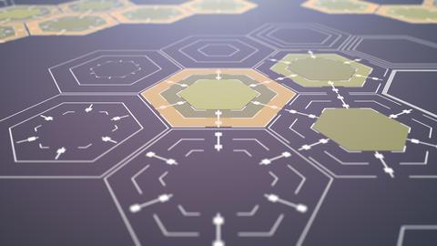 Digital Hexagonal Background CG動画素材