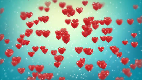 Hearts Background Animation