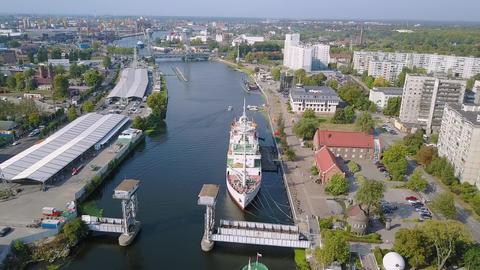 Russia, Kaliningrad. Scientific-research Vessel KOSMONAVT VIKTOR PATSAYEV, Live Action