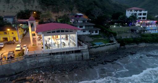 La Entrada, Ecuador - 20180914 - Drone Aerial Time Lapse - Drone Pans Acro Live Action