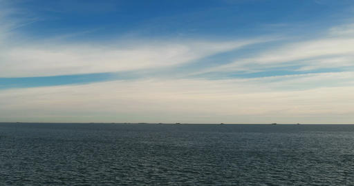Pan Shot over the North Frisian North Sea and Hallig Langeness in Germany GIF