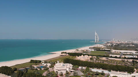 Panorama of Dubai with a view of the hotel Burj Al Arab Jumeirah Footage