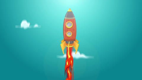 Rocket Ship Flying Through Space Animation Loop Animation