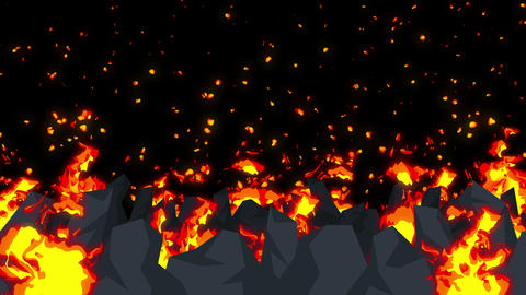Evil abstract animation, Apocalyptic hell background, Fire flames on spooky CG動画素材