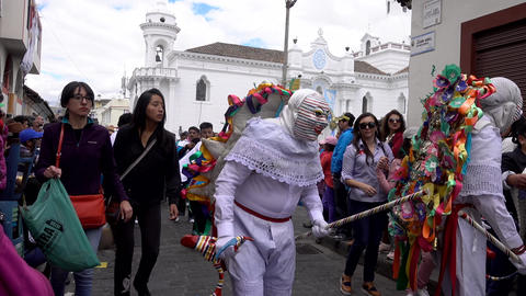 Latacunga, Ecuador - 20180925 - Sorcerers Cleans Woman of Evil Spirits in Footage