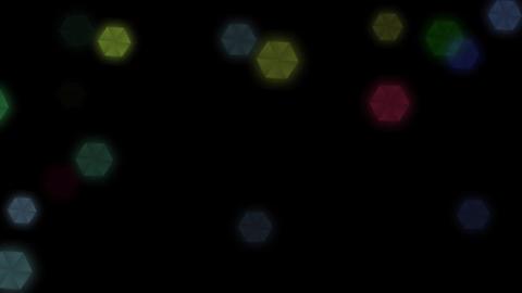 rainbow illuminations particles, Stock Animation