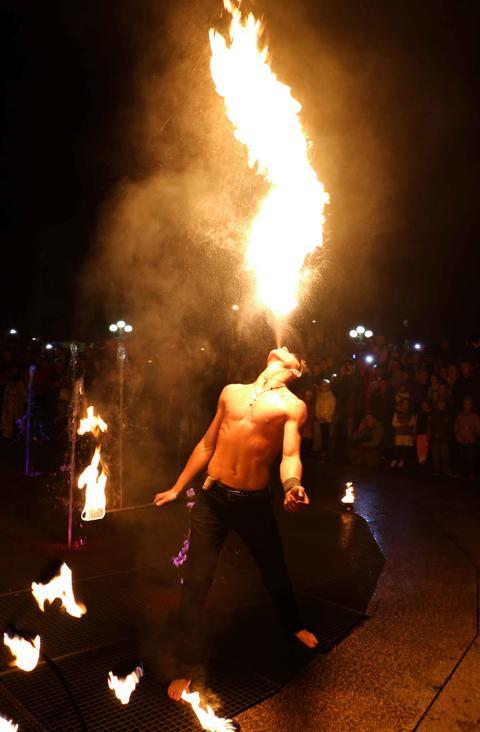 Professional fire show 005 Fotografía