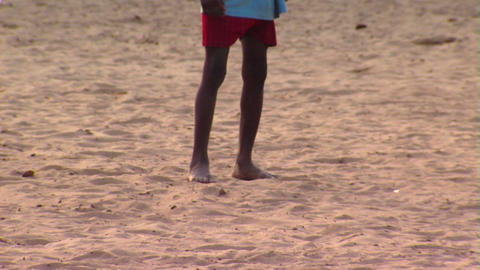 African kids playing soccer Footage