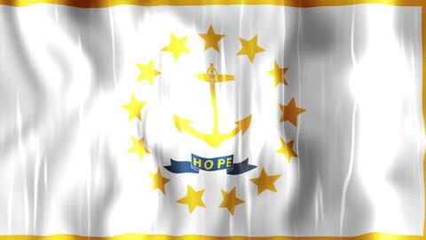 Rhode Island State Flag Animation Animation