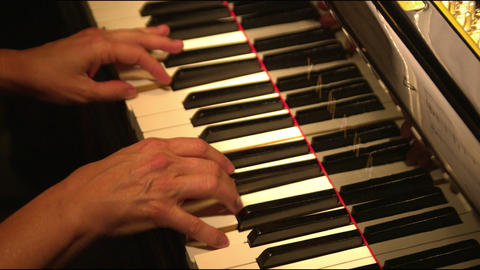Close up of hands playing piano Footage