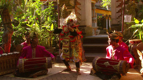 Young boy doing a dance in Bali Footage