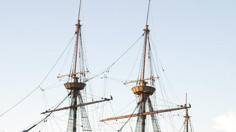 Masts of the Mayflower in Massachusetts Footage