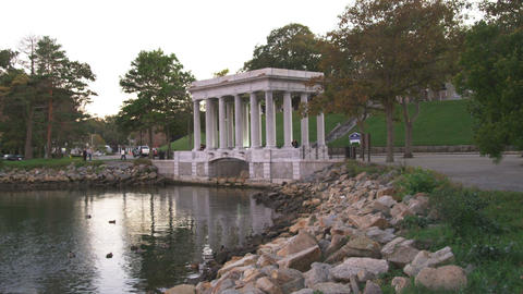 Plymouth Rock in Massachusetts Footage