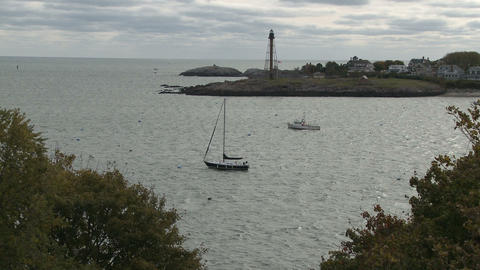 Outlet of the Marblehead Harbor in Massachusetts Live Action