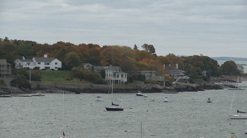 Looking across Marblehead Harbor in Massachusetts Footage