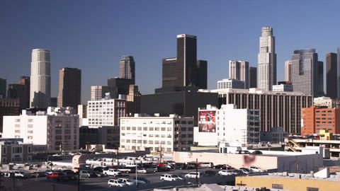 Los Angeles skyline Footage
