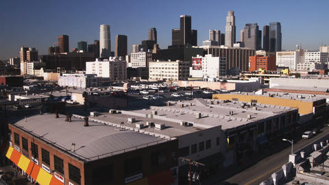 Skyline of Los Angeles California Live Action