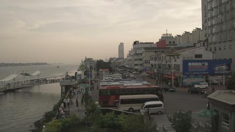 Yalu River between China and North Korea Footage