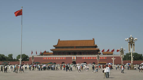 Tiananmen Square in China Footage