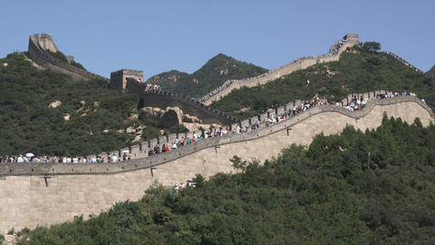 Great Wall of China in the Badaling section Live Action